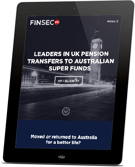 iPad with responsive Finsec PTX website designed by Hannah Sutton
